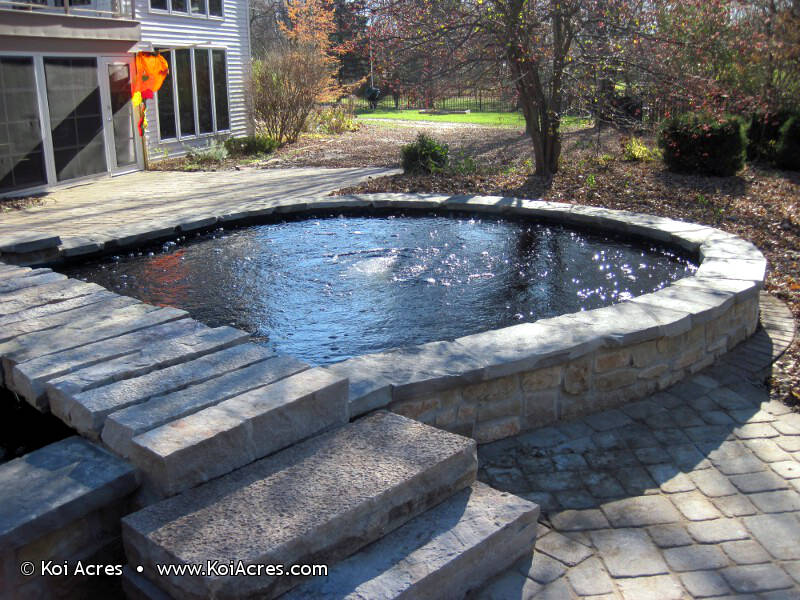 Koi pond construction for Koi pond contractors