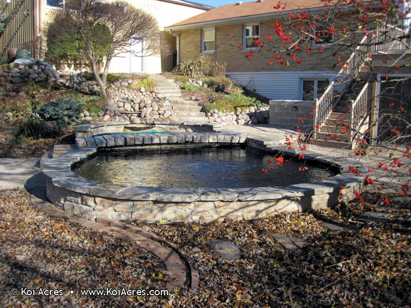 Koi pond construction for Building a large pond